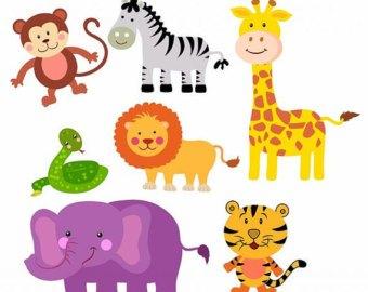 Baby clipart portal . Free printable jungle animal cliparts