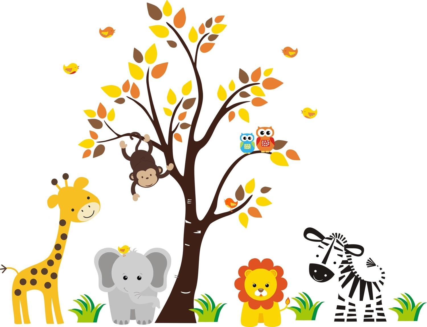Free printable jungle animal cliparts picture library stock Free printable baby jungle animal clipart 8 » Clipart Portal picture library stock