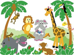 Free printable jungle animal cliparts png black and white download Free Printable Baby Jungle Animal Clipart | Free Images at Clker.com ... png black and white download