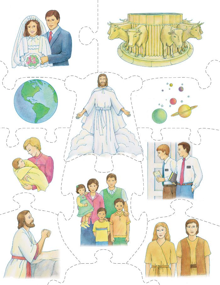 Temple blessings from the. Free printable lds family home evening clipart