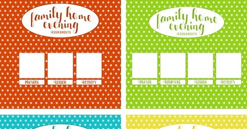 Free printable lds family home evening clipart transparent A Year of FHE: FREEBIE // Printable Family Home Evening Charts - Style C transparent