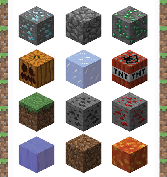 Free printable minecraft clipart png royalty free library Minecraft Clipart - Clipart Kid png royalty free library