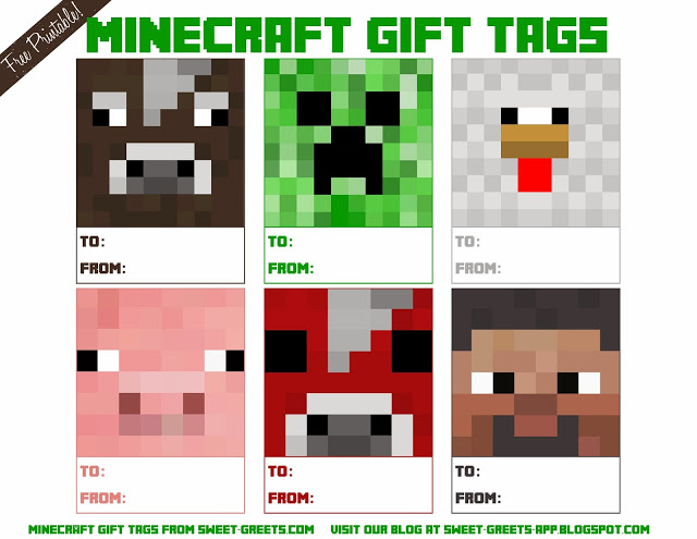 Free printable minecraft clipart clipart transparent download Just Peachy Designs: Free Printable Minecraft Gift Tags clipart transparent download