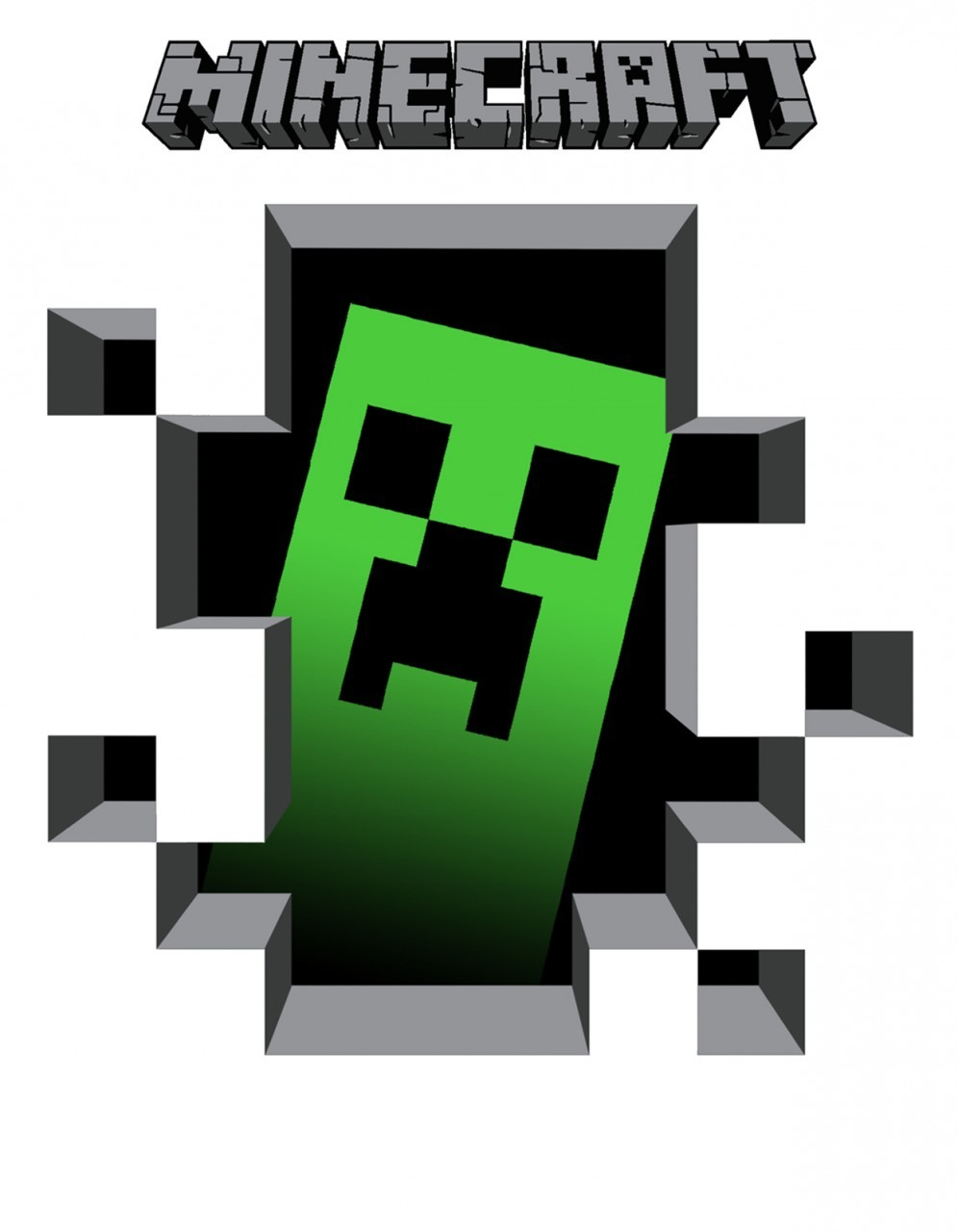 Free printable minecraft clipart png black and white stock Minecraft clipart download - ClipartFest png black and white stock
