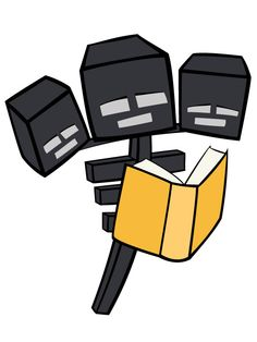 Free printable minecraft clipart jpg free library Ender man reading a book! #enderman #reading #book #free ... jpg free library