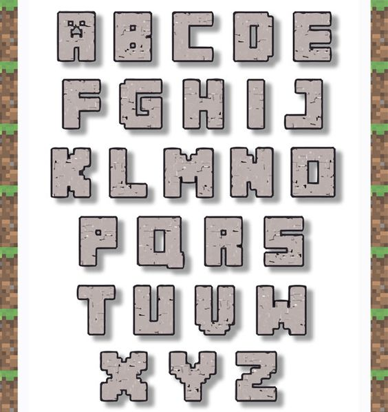 Free printable minecraft clipart vector transparent stock free printable minecraft alphabe - Google'da Ara | Minecraft Mania ... vector transparent stock