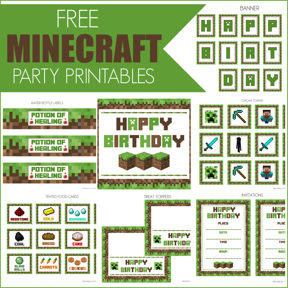 Free printable minecraft clipart image transparent library Minecraft clipart printable - ClipartFest image transparent library