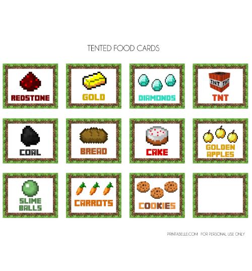 Free printable minecraft clipart clip art black and white stock Minecraft Food Clipart - Clipart Kid clip art black and white stock