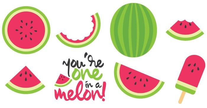 Summer clipart watermelon clipart black and white Watermelon Cut Files + Clip Art - Freebie Friday - Hey, Let\'s Make Stuff clipart black and white
