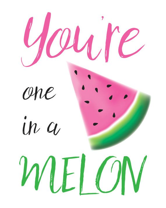 Free printable one in a melon clipart image freeuse stock Pin by Kelly Dimmock on bedroom | Watermelon puns, Watermelon ... image freeuse stock
