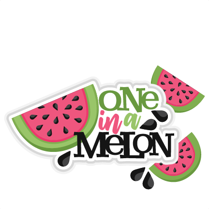 Free printable one in a melon clipart. Title svg scrapbook cut