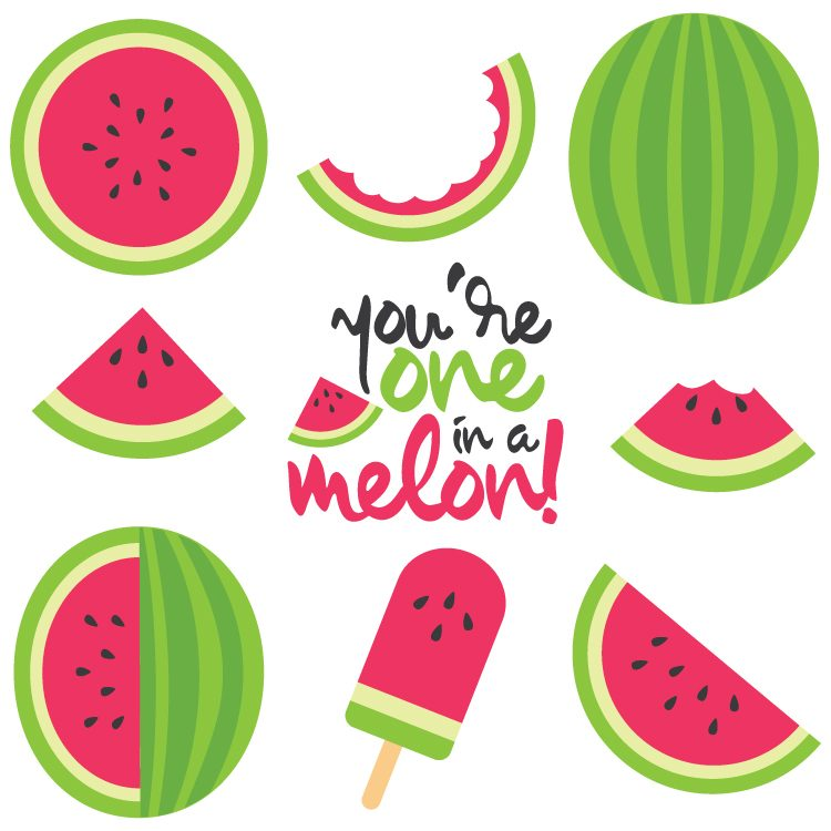 Watermelon download best . Free printable one in a melon clipart