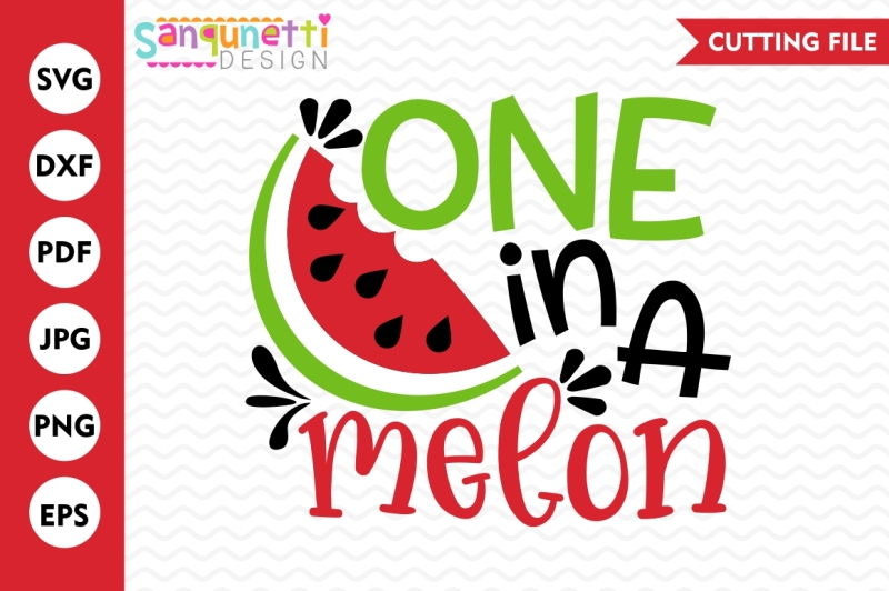 Free printable one in a melon clipart. Watermelon svg summer lettering