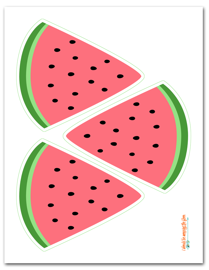 Free printable one in a melon clipart clip art black and white stock Free Printable Watermelon Banner | Estelle\'s 1st Birthday | Baby ... clip art black and white stock