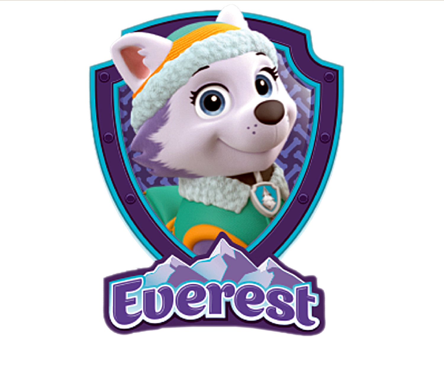 Free printable paw patrol clipart clip black and white download Paw patrol clipart everest - ClipartFest clip black and white download