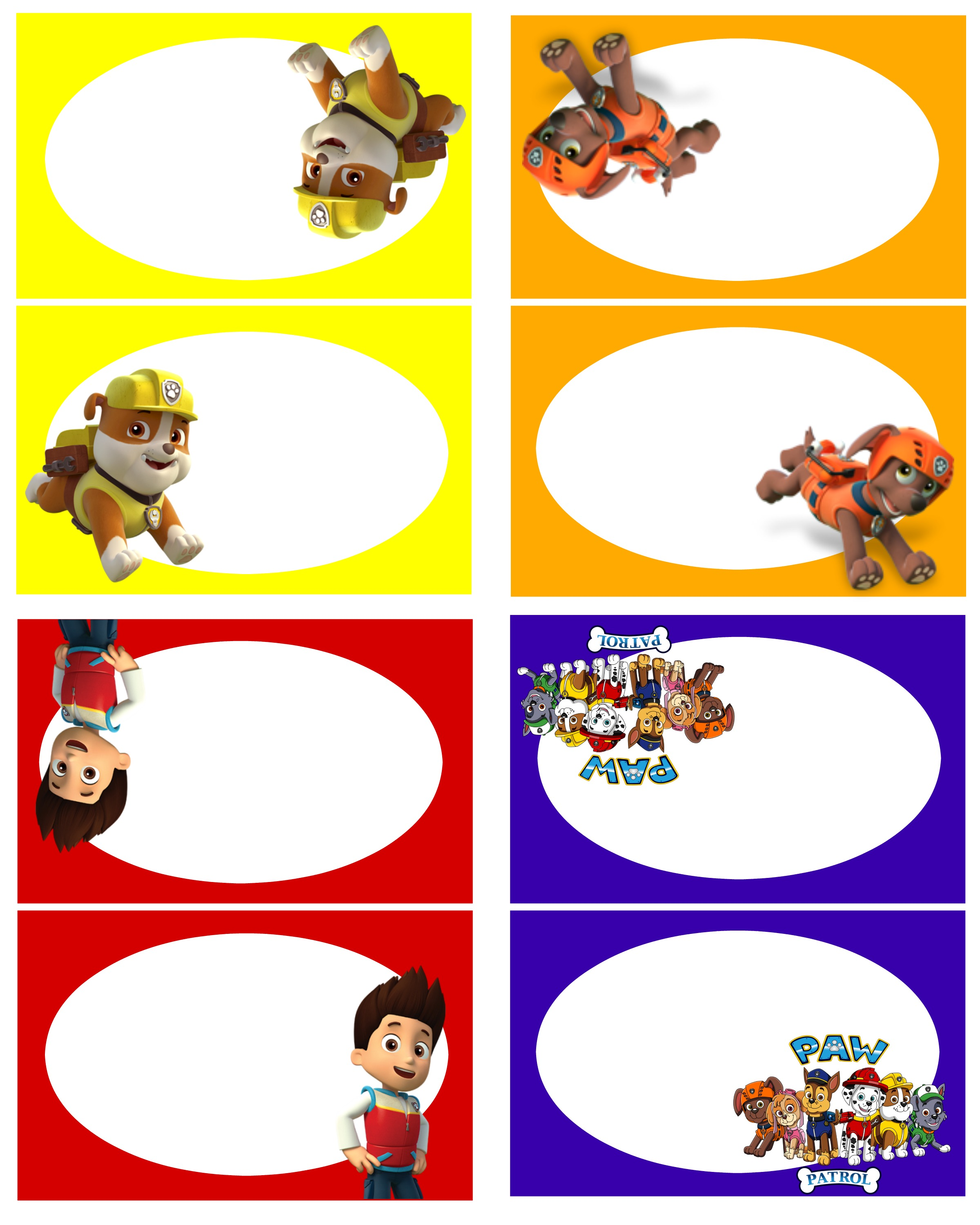 Free printable paw patrol clipart graphic royalty free download Paw Patrol Free Birthday Party Printables! - Delicate Construction graphic royalty free download