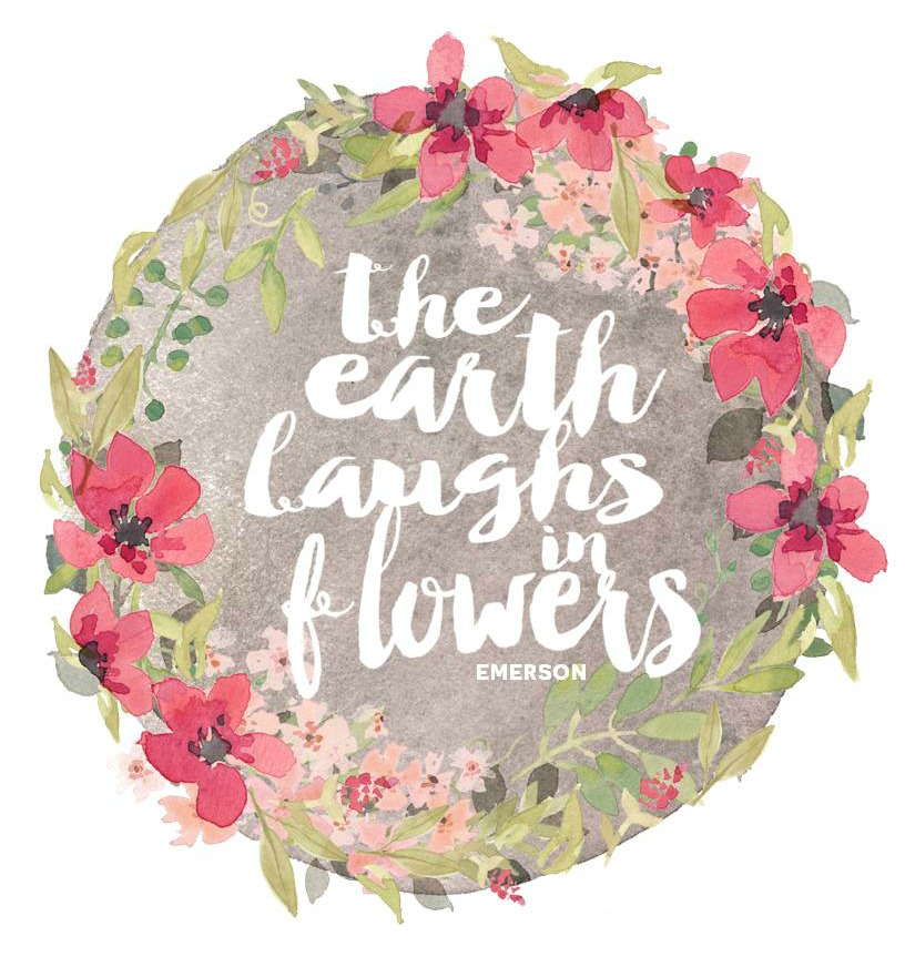 Free printable photos of flowers clipart freeuse library Spring Flower Wreath | Free Printable - Ella Claire clipart freeuse library