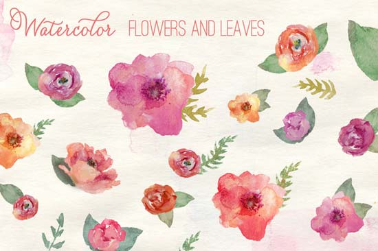 Free printable photos of flowers free library DIY Wedding Design Resources: Watercolor Flowers + a Free ... free library