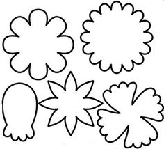 Free printable photos of flowers graphic transparent download Printable Flower Stencils - ClipArt Best graphic transparent download
