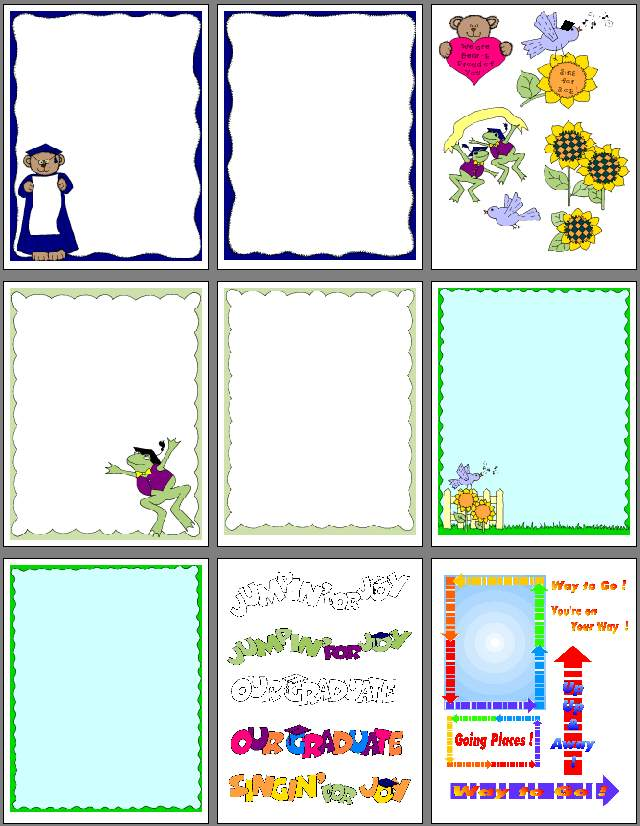 Free printable scrapbook clipart. Graduation and pages to