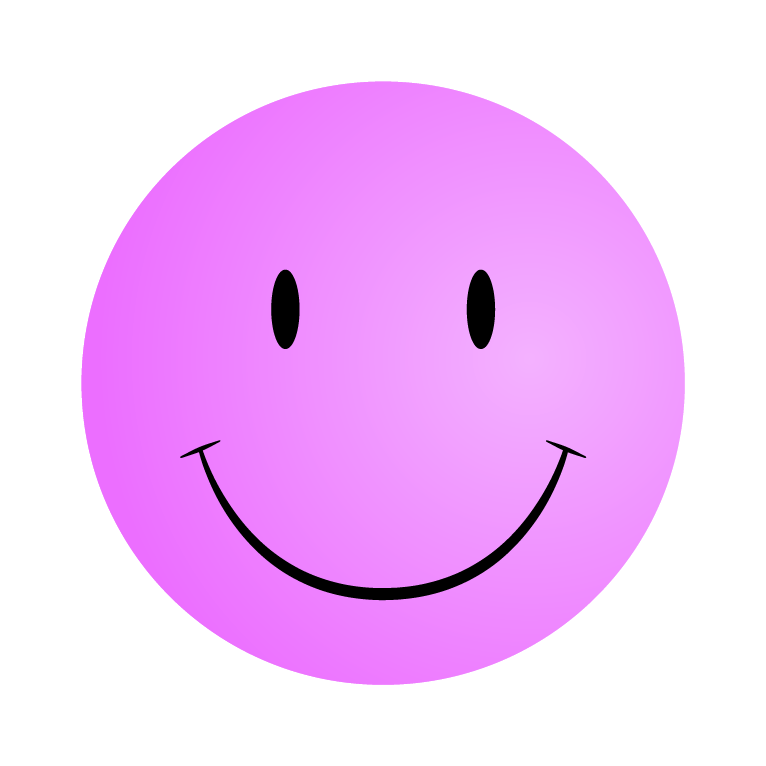 Pink happy face clipart