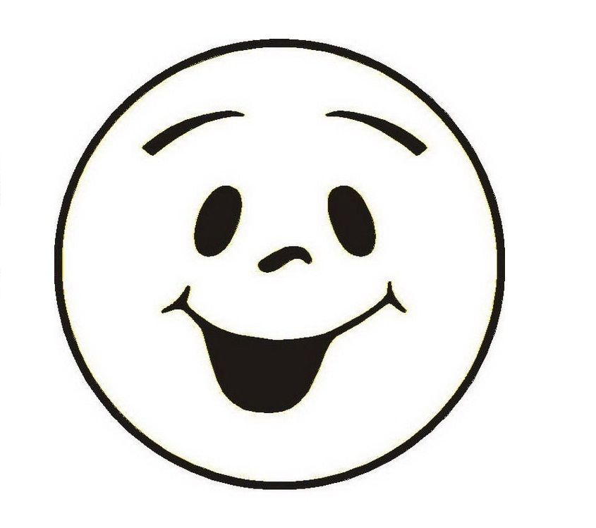 Say cheese kid face black and white clipart picture black and white stock Free Printable Smiley Face Coloring Pages For Kids | أفكار للقمصان ... picture black and white stock