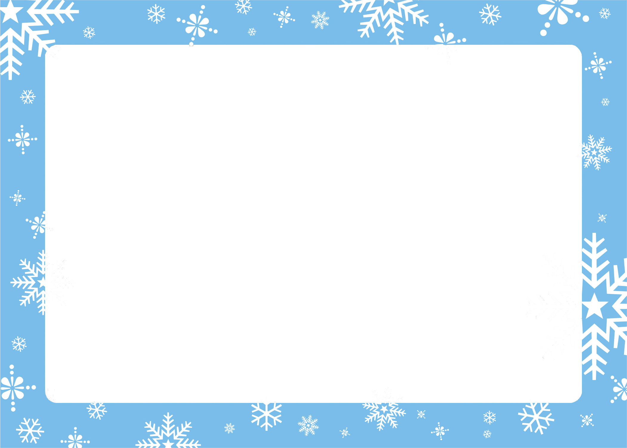 Snowflake christmas clipart border png download Free Border Template. certificate artwork certificate background ... png download