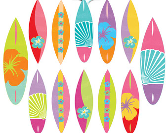 Free printable surfboard clipart graphic royalty free library Surf board clipart | Etsy graphic royalty free library