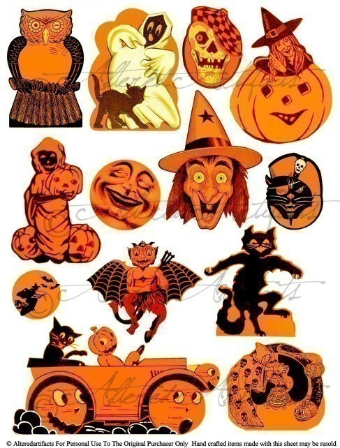 Free printable vintage halloween clipart. Clip art arts for
