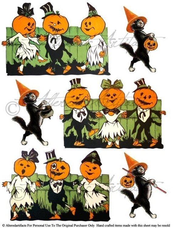 Free printable vintage halloween clipart svg black and white download Free Printable Vintage Halloween Clip Art (100+ images in Collection ... svg black and white download