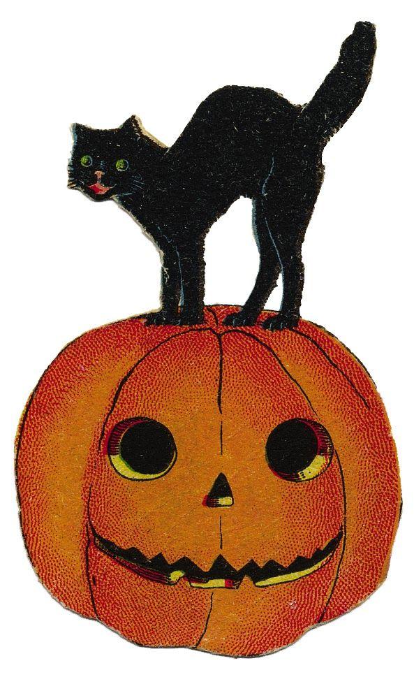 Free printable vintage halloween clipart. Download best