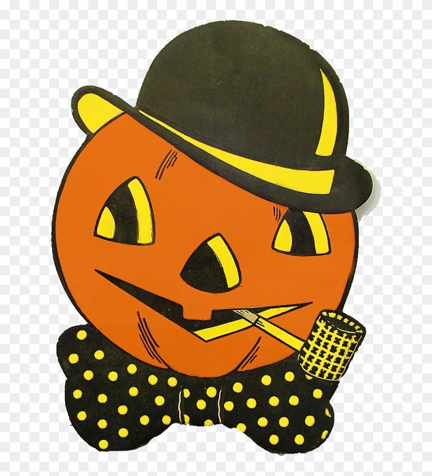 Free printable vintage halloween clipart.