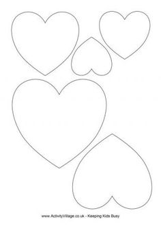 Free printables hearts clipart work image transparent download Free Printable Heart Templates – Large, Medium & Small Stencils to ... image transparent download
