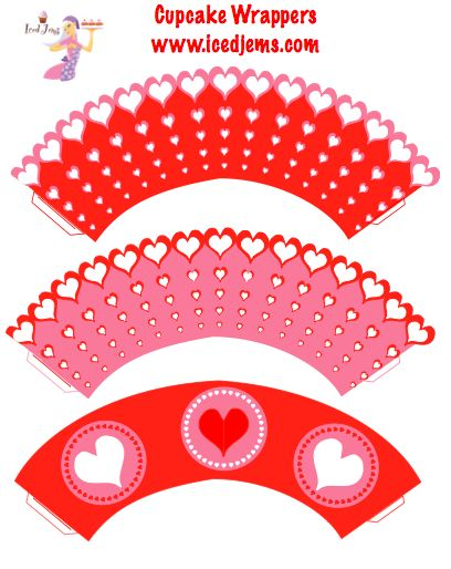 Free printables hearts clipart work svg freeuse the free printable scalloped cupcake would work perfect for Queen ... svg freeuse