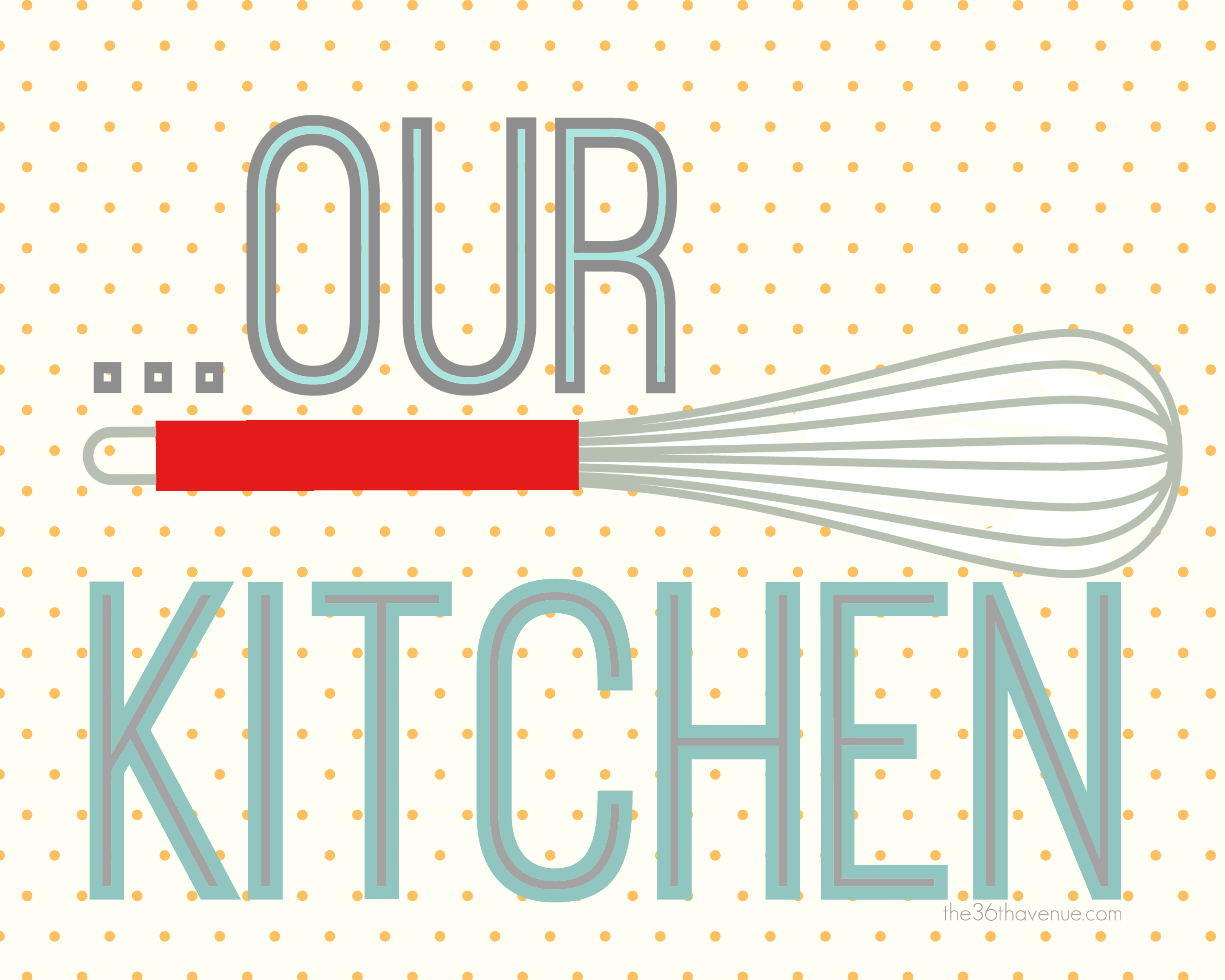 Free printables kitchen hearts clipart work clipart royalty free download Free Printables ~ Kitchen Set - The 36th AVENUE clipart royalty free download