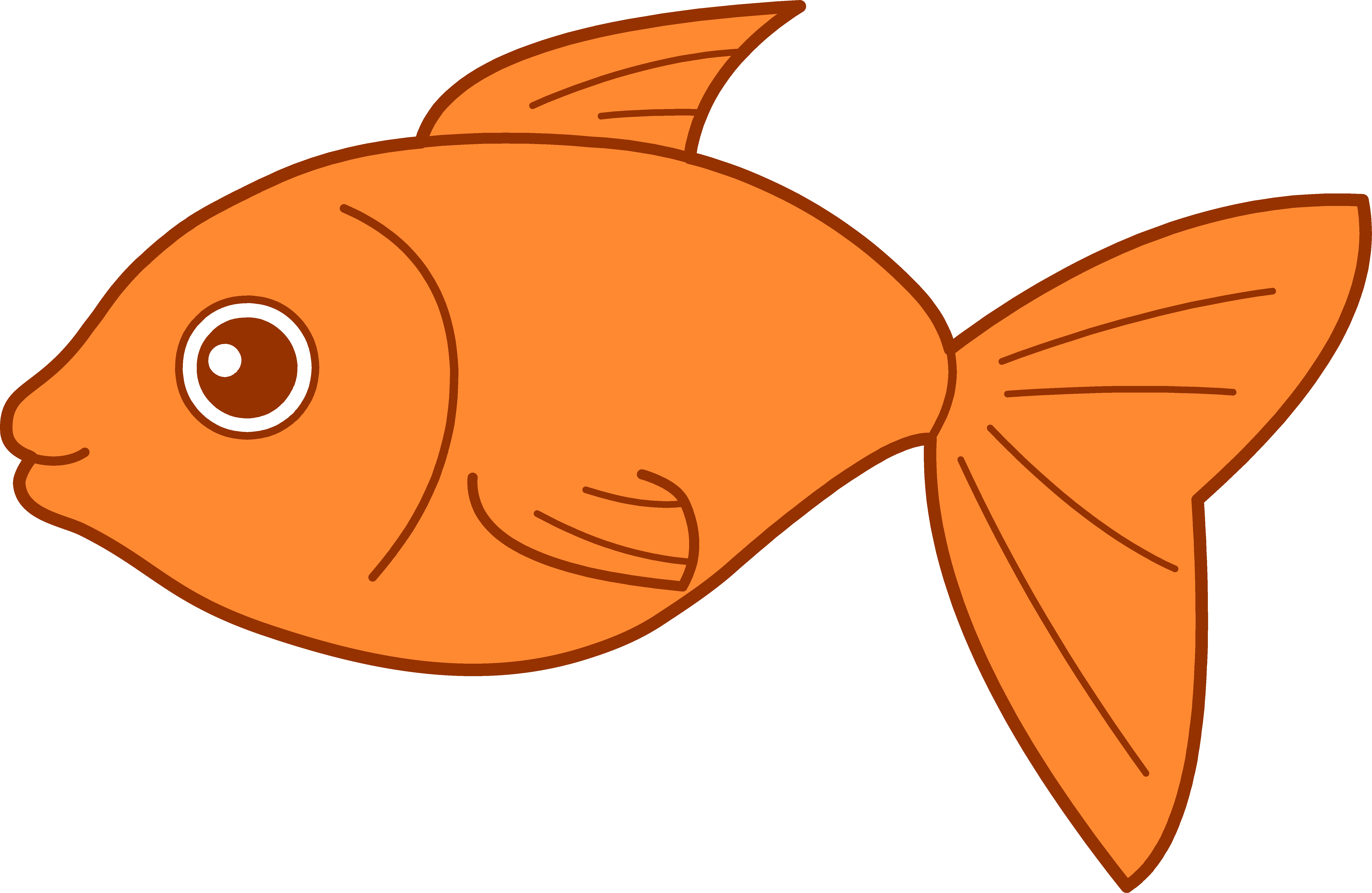 Goldfish cartoon clipart free Fishing tropical fish clip art black and white free - Clipartix ... free