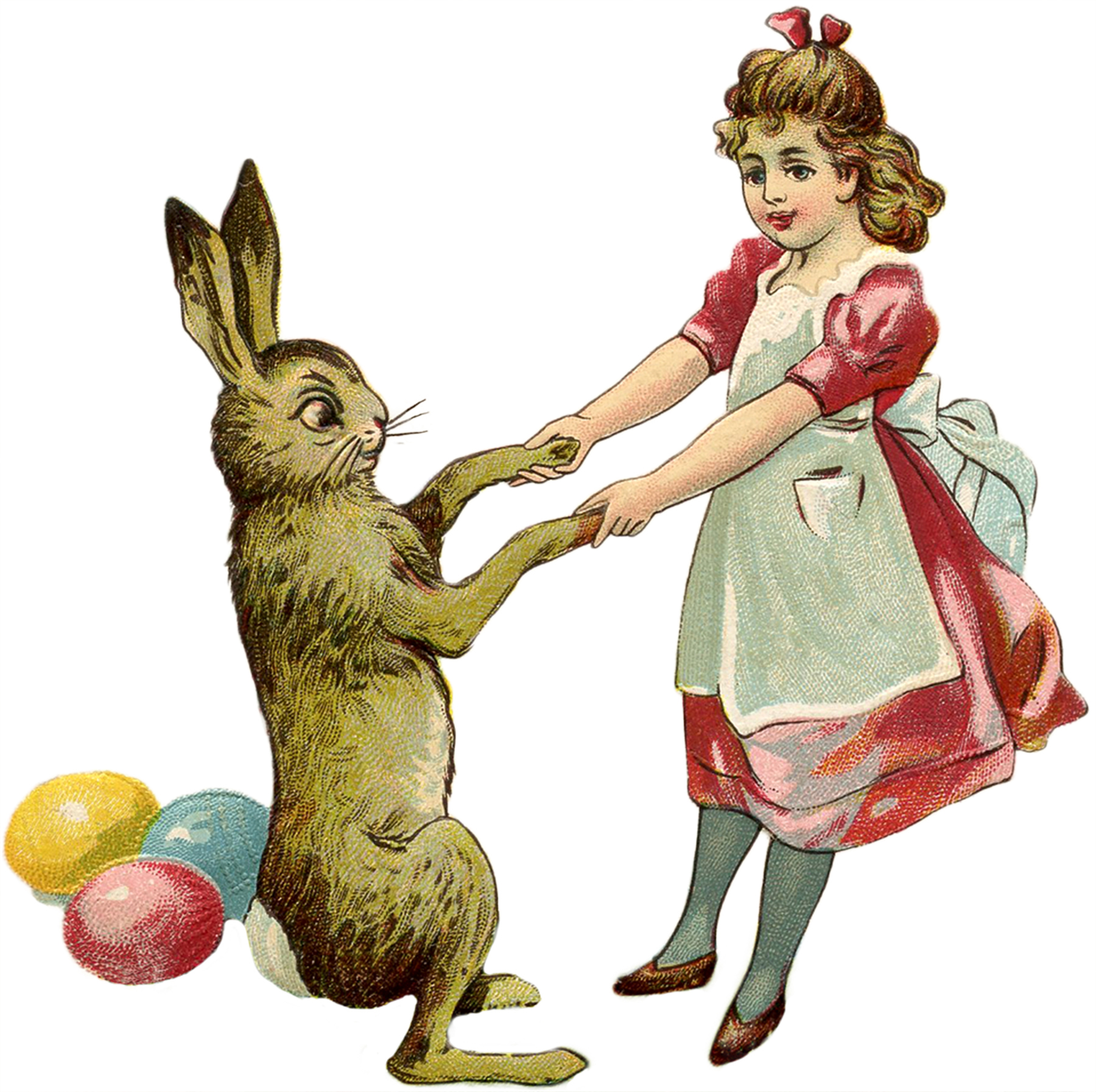 Free public domain vintage rabbit easter images clipart banner library stock 21 Easter Bunny Images Free - Updated! - The Graphics Fairy banner library stock
