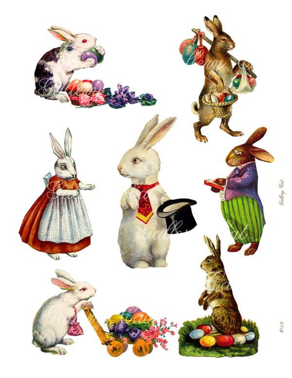 Free public domain vintage rabbit easter images clipart png Download vintage easter bunny clipart Easter Bunny Rabbit Hare ... png