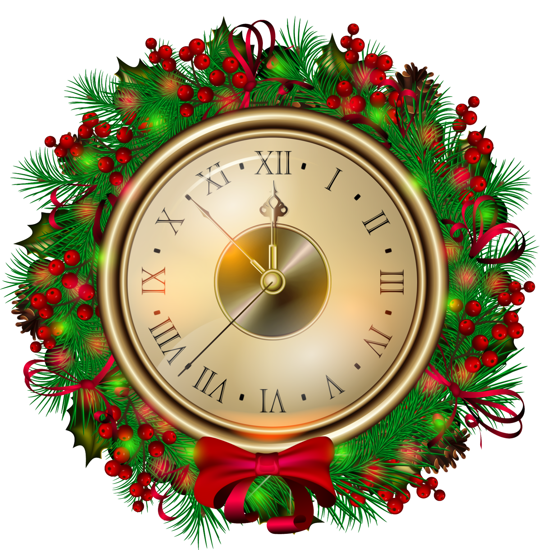 Free pumpkin clock clipart graphic royalty free stock Transparent Christmas Clock PNG Clipartt | Gallery Yopriceville ... graphic royalty free stock