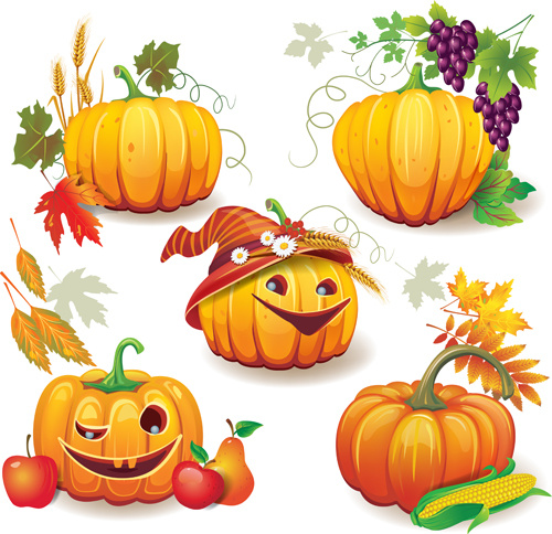 Free pumpkin vector clipart svg free Funny autumn pumpkins vector graphic Free vector in Adobe ... svg free