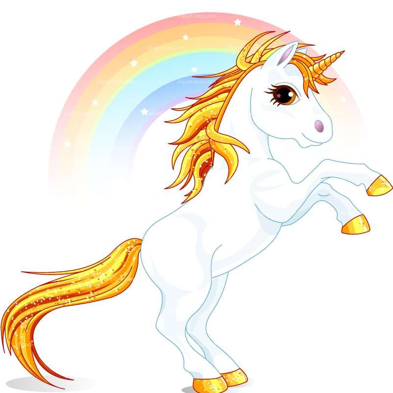 Free rainbow unicorn clipart. Prancing and royalty vector