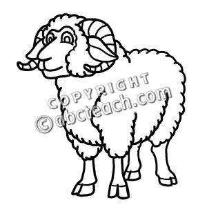 Ram clipart black and white clip art Clip Art: Cartoon Sheep: Ram | Clipart Panda - Free Clipart Images clip art