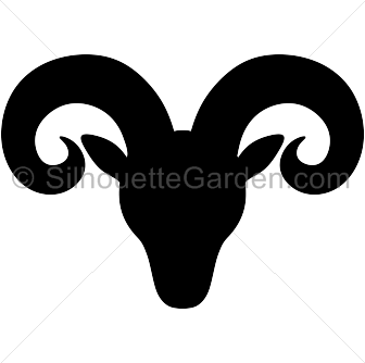 Free ram head clipart clip freeuse library Pin by Muse Printables on Silhouette Clip Art at SilhouetteGarden ... clip freeuse library