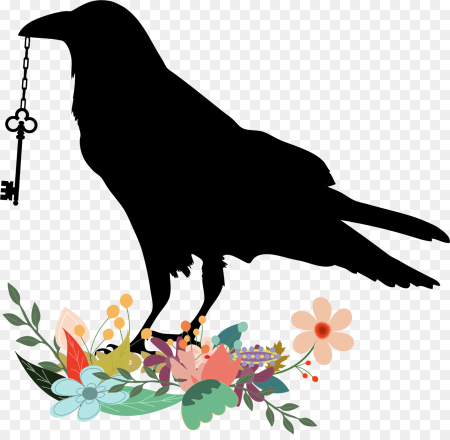 Free raven clipart. Bird wing tree transparent