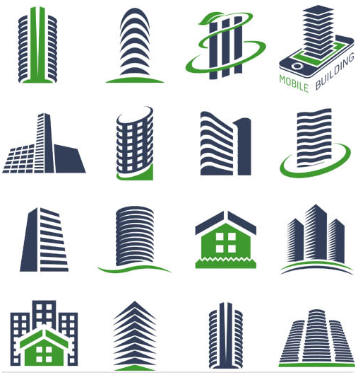 Free real estate logo clipart banner Real Estate Logo Set 6 | AI format free vector download ... banner