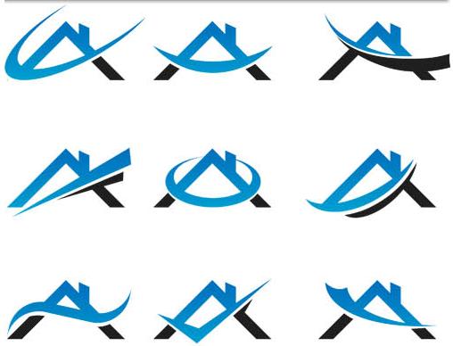 Free real estate logo clipart banner download Real Estate Logo Set 2 | AI format free vector download ... banner download