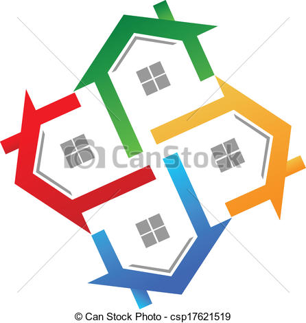 Free real estate logo clipart png library stock Vector Clip Art of Real estate logo vector - Real estate icon ... png library stock