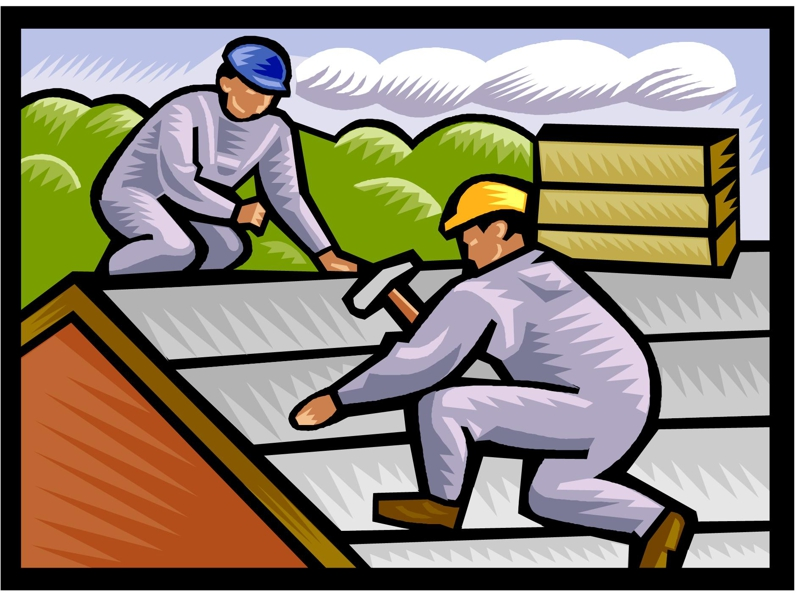 Free rooftop clipart with working man on top image royalty free download Free Re Roofing Cliparts, Download Free Clip Art, Free Clip Art on ... image royalty free download