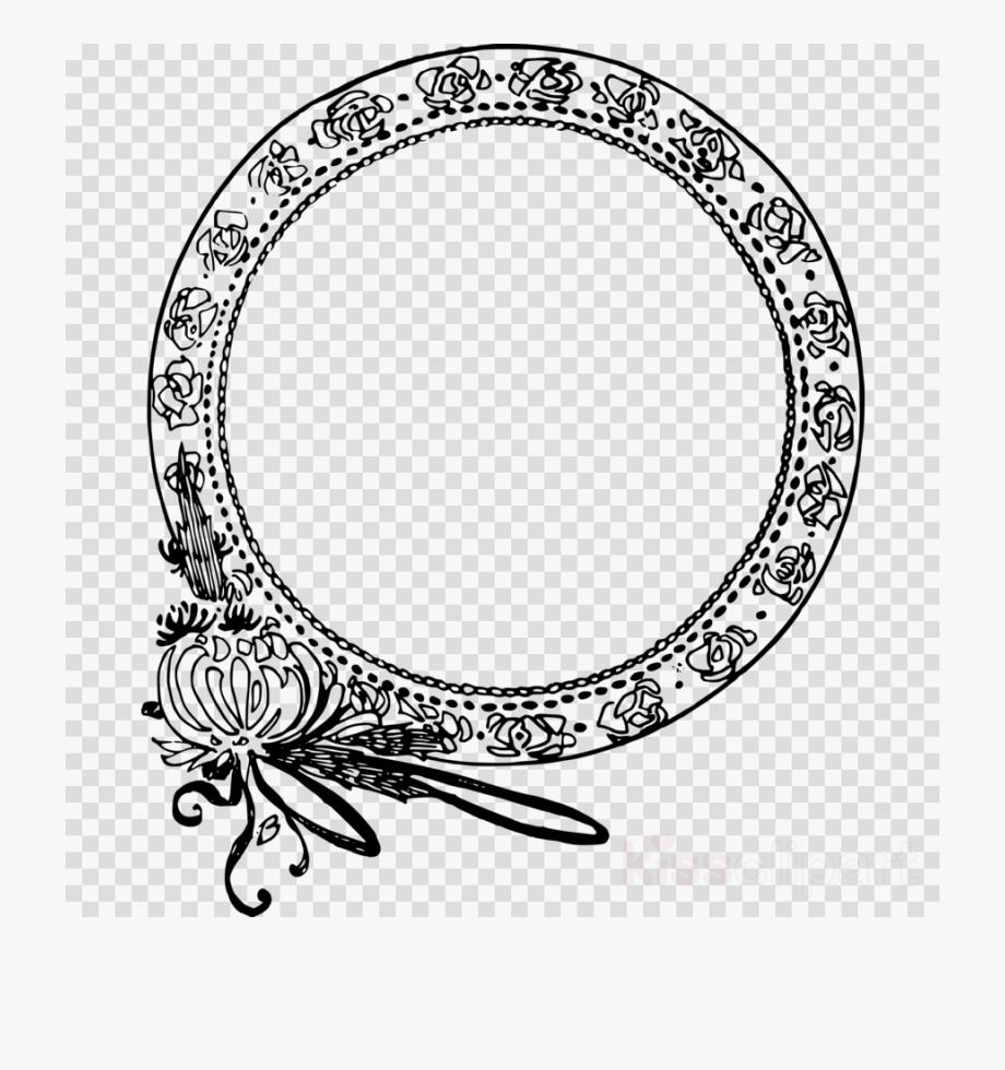 Free round ornamental line borders clipart free. Circle logo flower border