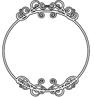 Circle border frame vector. Free round ornamental line borders clipart free